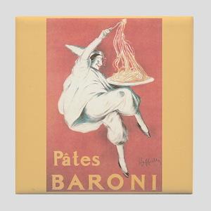 Pates Baroni Vintage Ad Tile Coaster