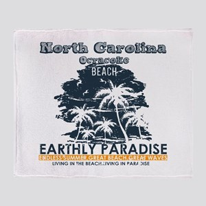 North Carolina - Ocracoke Throw Blanket
