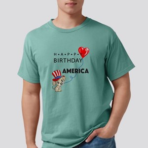 Happy Birthday America USA Patriotic Puppy T Shirt