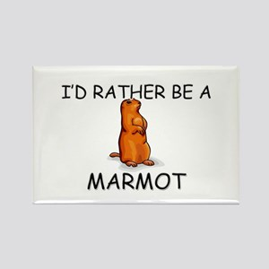 I'd Rather Be A Marmot Rectangle Magnet