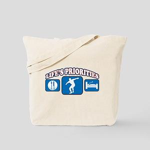 Life's Priorities Discus Tote Bag