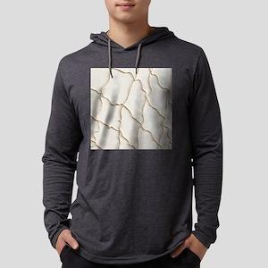 Ivory Beige Fishing Net Mens Hooded Shirt
