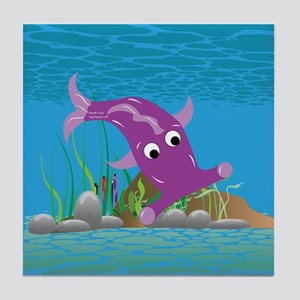 Purple Hammie Fish Tile Coaster