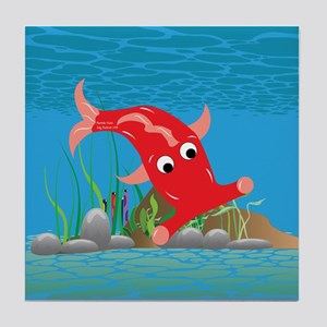 Red Hammie Fish Tile Coaster