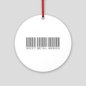 Sheet Metal Worker Barcode Ornament (Round)