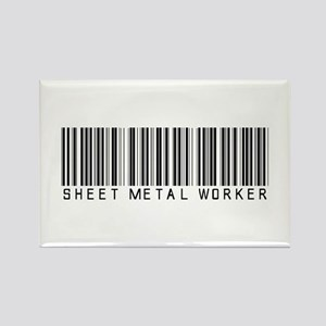 Sheet Metal Worker Barcode Rectangle Magnet