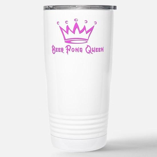 Beer Pong Queen Stainless Steel Travel Mug