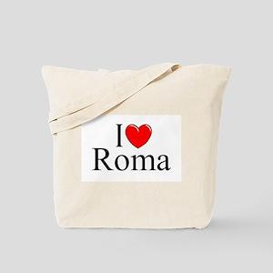 """I Love (Heart) Roma"" Tote Bag"