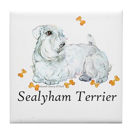 Sealyham Terrier Good Life Tile Coaster