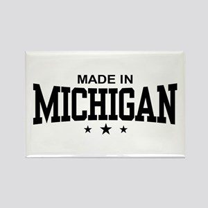 Made in Michigan Rectangle Magnet