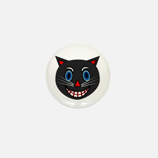 Vintage Black Cat Mini Button