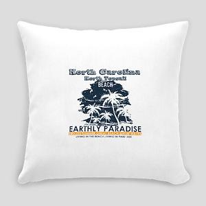 North Carolina - North Topsail Bea Everyday Pillow