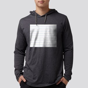 Notebook Paper Lined Mens Hooded Shirt