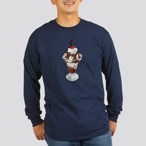 Ice Cream Sundae Long Sleeve Dark T-Shirt