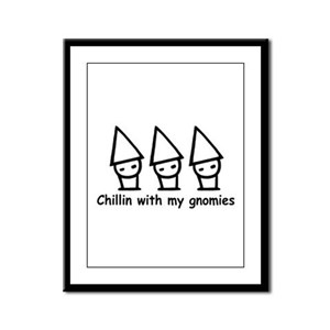 Chillin with my gnomies Framed Panel Print