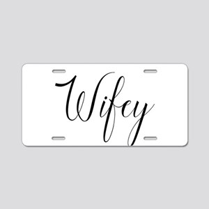 Wifey Aluminum License Plate