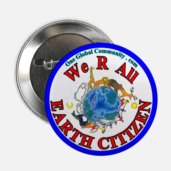 "WE R ALL Earth Citizen 2.25"" Button (10 pack)"