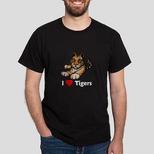 I Love Tigers Dark T-Shirt