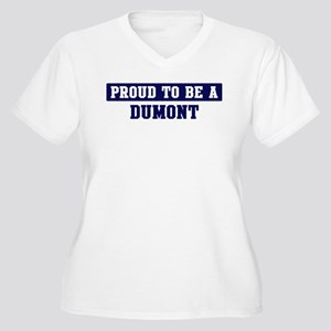 Proud to be Dumont Women's Plus Size V-Neck T-Shir
