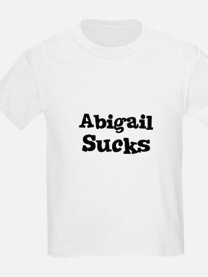 Abigail Sucks Kids T-Shirt