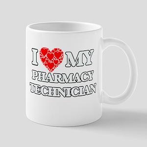 I Love my Pharmacy Technician Mugs