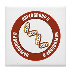 Haplogroup D Tile Coaster
