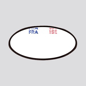 France Text Flag French Pride Design Patch