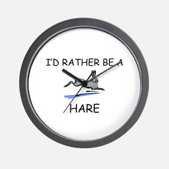 I'd Rather Be A Hare Wall Clock