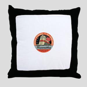Hiawatha engine design Throw Pillow