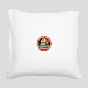Hiawatha engine design Square Canvas Pillow