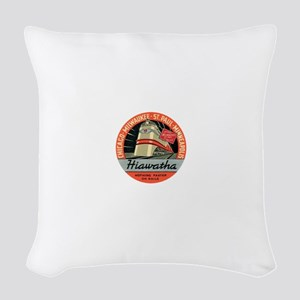 Hiawatha engine design Woven Throw Pillow