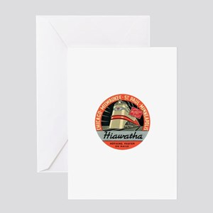 Hiawatha engine design Greeting Cards
