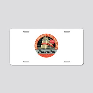 Hiawatha engine design Aluminum License Plate