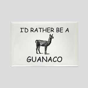 I'd Rather Be A Guanaco Rectangle Magnet