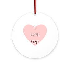 I Love Pugs Keepsake (Round)