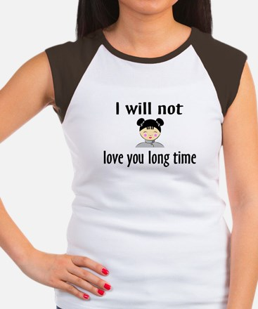 I Will Not Love You Long Time Women's Cap Sleeve T