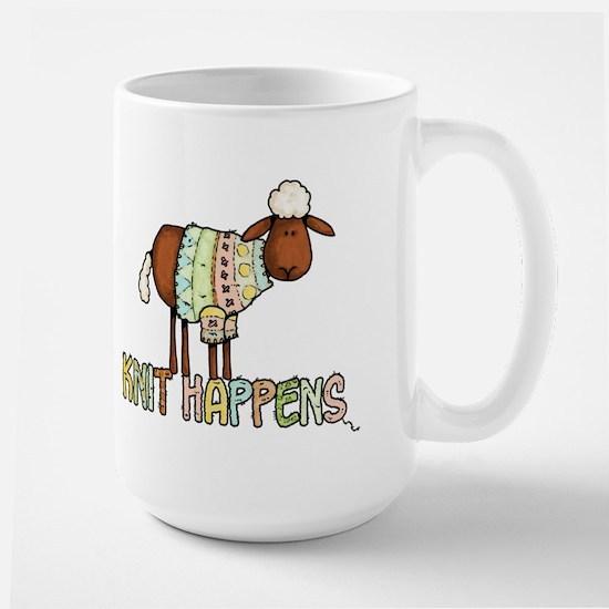 knit happens Large Mug