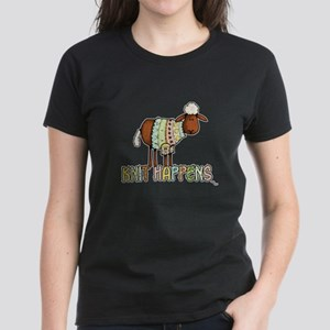 knit happens Women's Dark T-Shirt