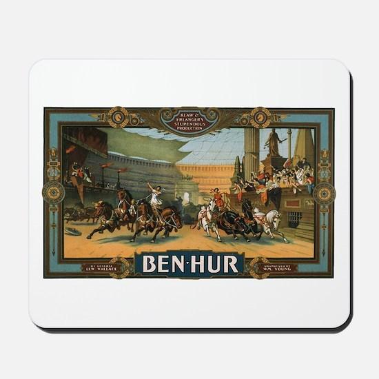 Vintage Ben Hur Horse Race Mousepad