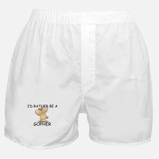 I'd Rather Be A Gopher Boxer Shorts