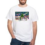 XmasMagic/4 Shih Tzus White T-Shirt