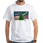 XmasMagic/Shih Tzu pup White T-Shirt