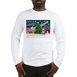 Xmas Magic/Yorkie #2 Long Sleeve T-Shirt