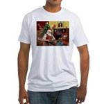 Santa's Yorkie (#11) Fitted T-Shirt