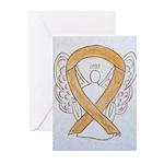 Amber Awareness Ribbon Angel Greeting Cards
