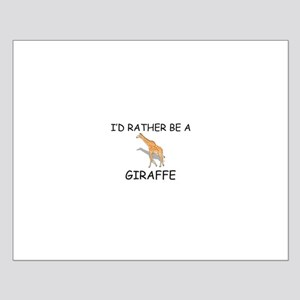 I'd Rather Be A Giraffe Small Poster