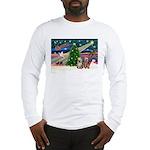 XmasMagic/2 Yorkies Long Sleeve T-Shirt