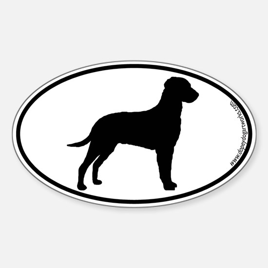 Curly SILHOUETTE Oval Decal