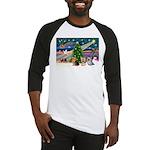 XmasMagic/3 Yorkies Baseball Jersey