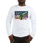 XmasMagic/3 Yorkies Long Sleeve T-Shirt